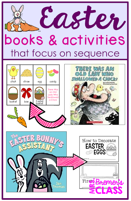 Easter Books and Activities that focus on story sequencing