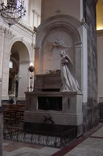 Vincenzo Bellini's tomb in the Duomo in Catania, his birthplace