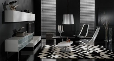 Desain Interior Apartemen Type Studio Bertema Monokrom