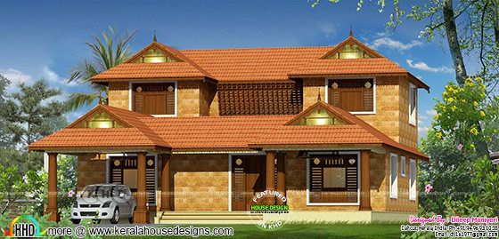 Typical Kerala home design with Koothambalam