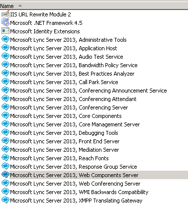 My work with products Microsoft Exchange, Lync, TMG