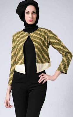 Desain Terbaru Baju Batik Remaja Lengan Panjang