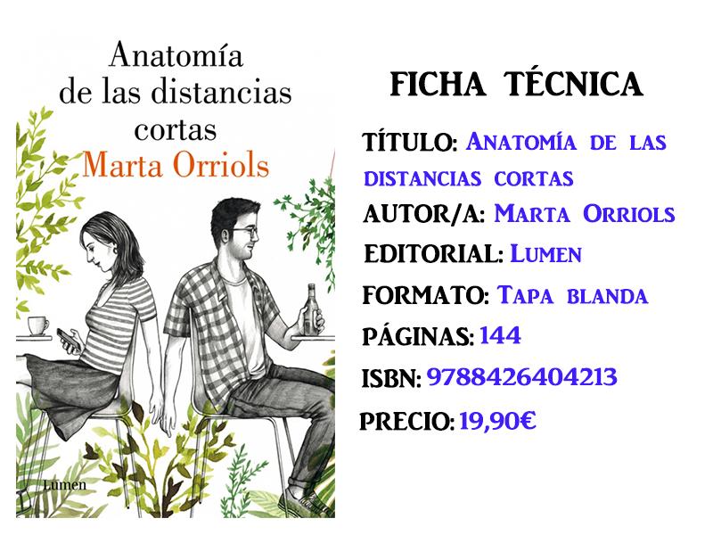 Reseña: Anatomía de las distancias cortas, de Marta Orriols – El ...