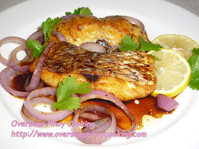 Fried Snapper Pinoy Bistek Style Recipe