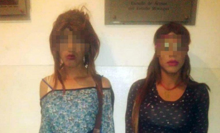Dos travestís rompieron la santamaría de una farmacia para robar