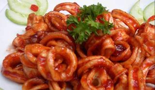 Resep Masakan Cumi-cumi Saus Padang