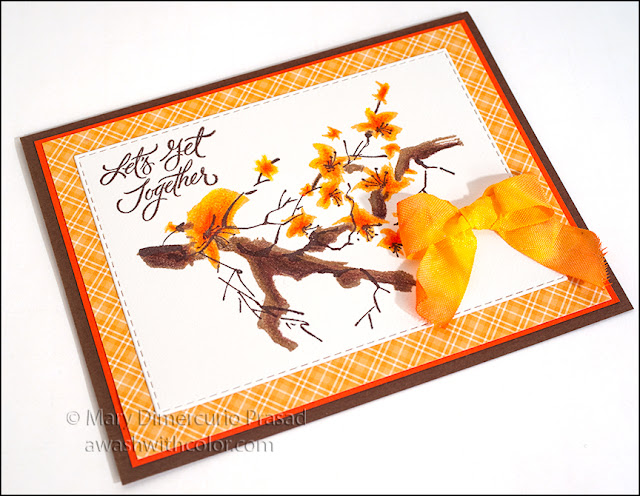 Rubbernecker Stamps Branch Blossoms with Memento Ink
