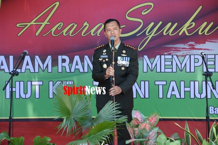 Jajaran Korem 141/Tp, Gelar Syukuran HUT TNI ke 73 Tahun di Kab Bataeng