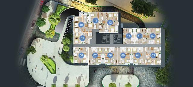 Sơ đồ thiết kế 2D căn hộ FLC Star Tower