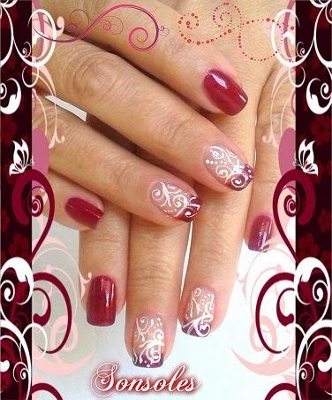 El Maletin De La Señorita Sonso Manicura Francesa Glitter Rojo