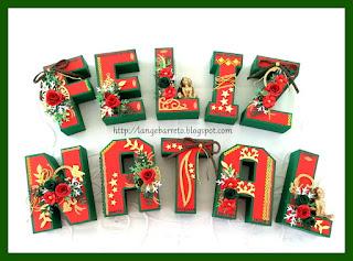 Letras 3 D Feliz Natal