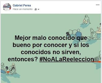 Pensamientos del dia #NoALaReeleccion