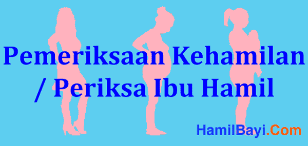 Pemeriksaan Kehamilan / Periksa Ibu Hamil