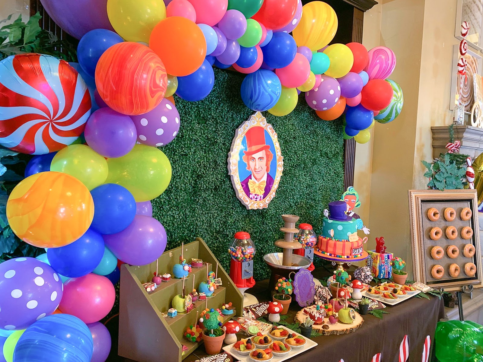 candyland balloons, candy themed party