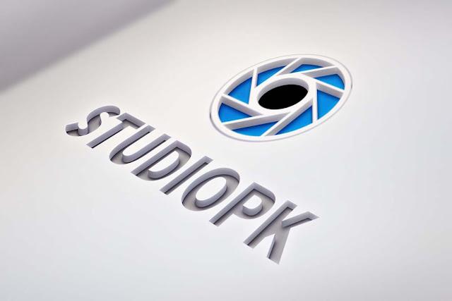 StudioPk Cutout Logo PSD Mockup