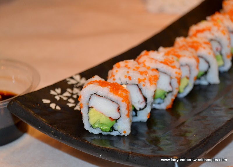 California Maki from Seafood in a Bucket's Sushi Bar