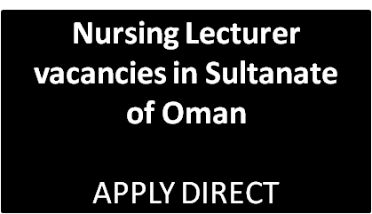 enursed com: Nursing Lecturer vacancies in SQUH Sultanate of