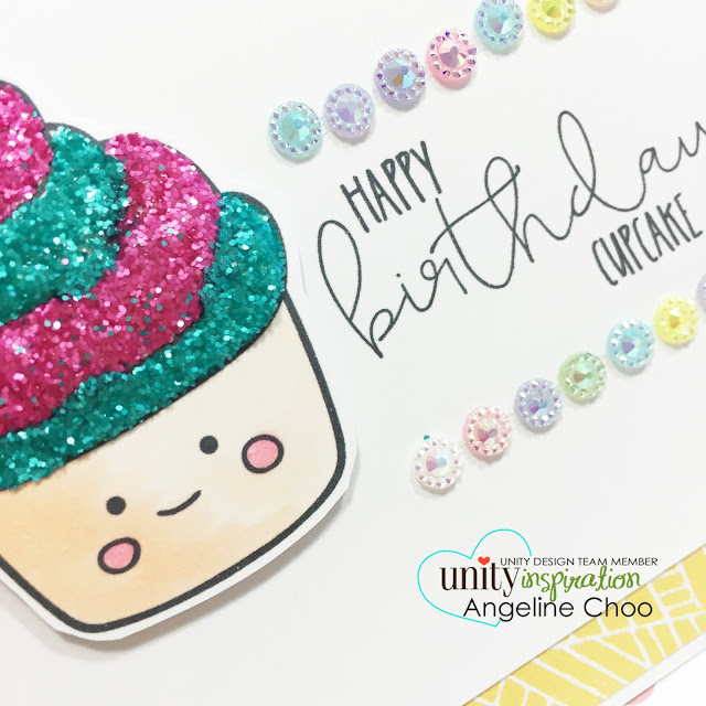 ScrappyScrappy: Cutie Cakes [NEW VIDEOS] #scrappyscrappy #unitystampco #stamp #card #glitter #birthday #cupcake #copic