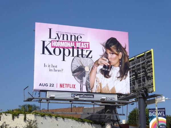 Lynne Koplitz Hormonal Beast billboard