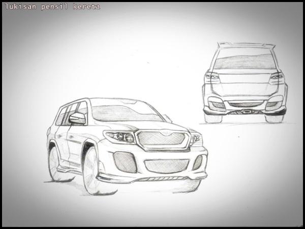 Lukisan Pensil: Kereta