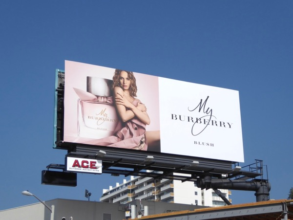 Lily James My Burberry Blush billboard