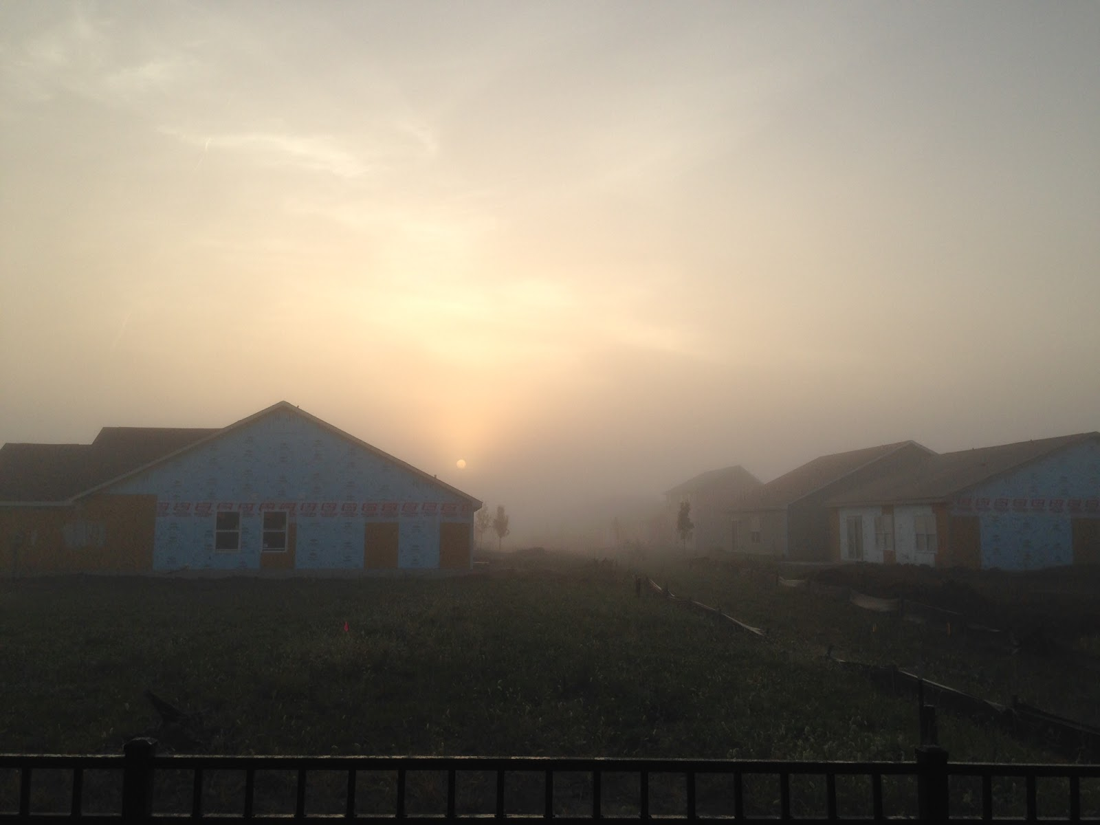 iphone yellow sun through fog