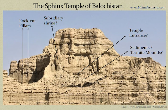 The Balochistan Sphinx-Temple shows clear signs of being a man-made, rock-cut, temple