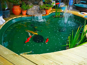 gambar rumah idaman: desain membuat kolam ikan minimalis