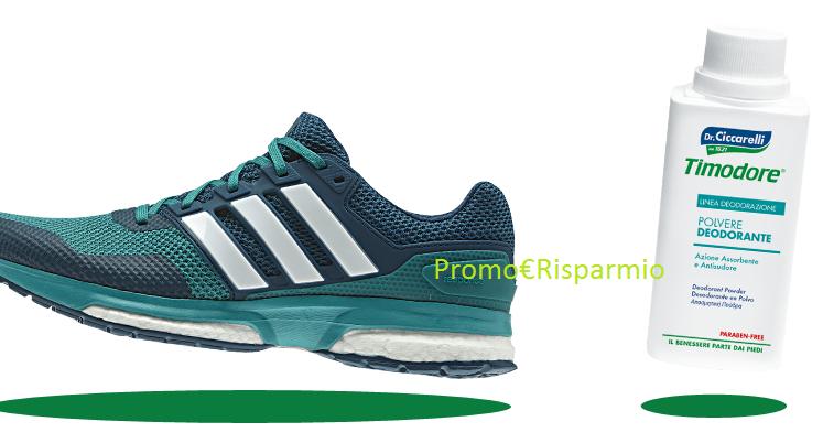 PROMO€RISPARMIO: Vinci gratis Kit scarpe Adidas con prodotto