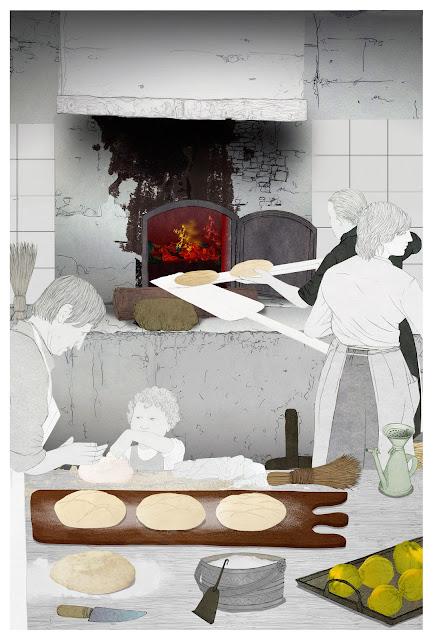 pan, amasar, membrillos