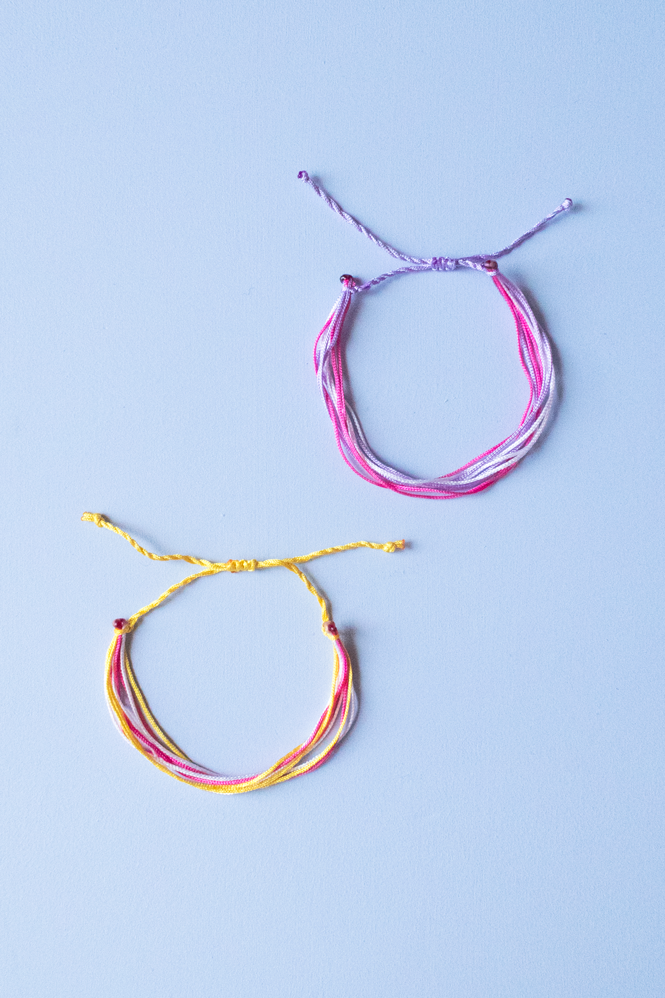 DIY String Friendship Bracelets