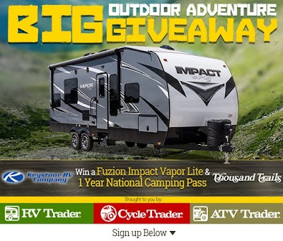 You could win  the 'Big Outdoor Adventure RV Giveaway'