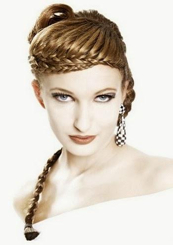 Gambar model rambut kepang 11