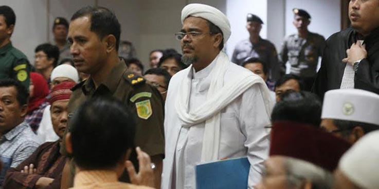 Imam Besar Front Pembela Islam (FPI) Habib Rizieq.