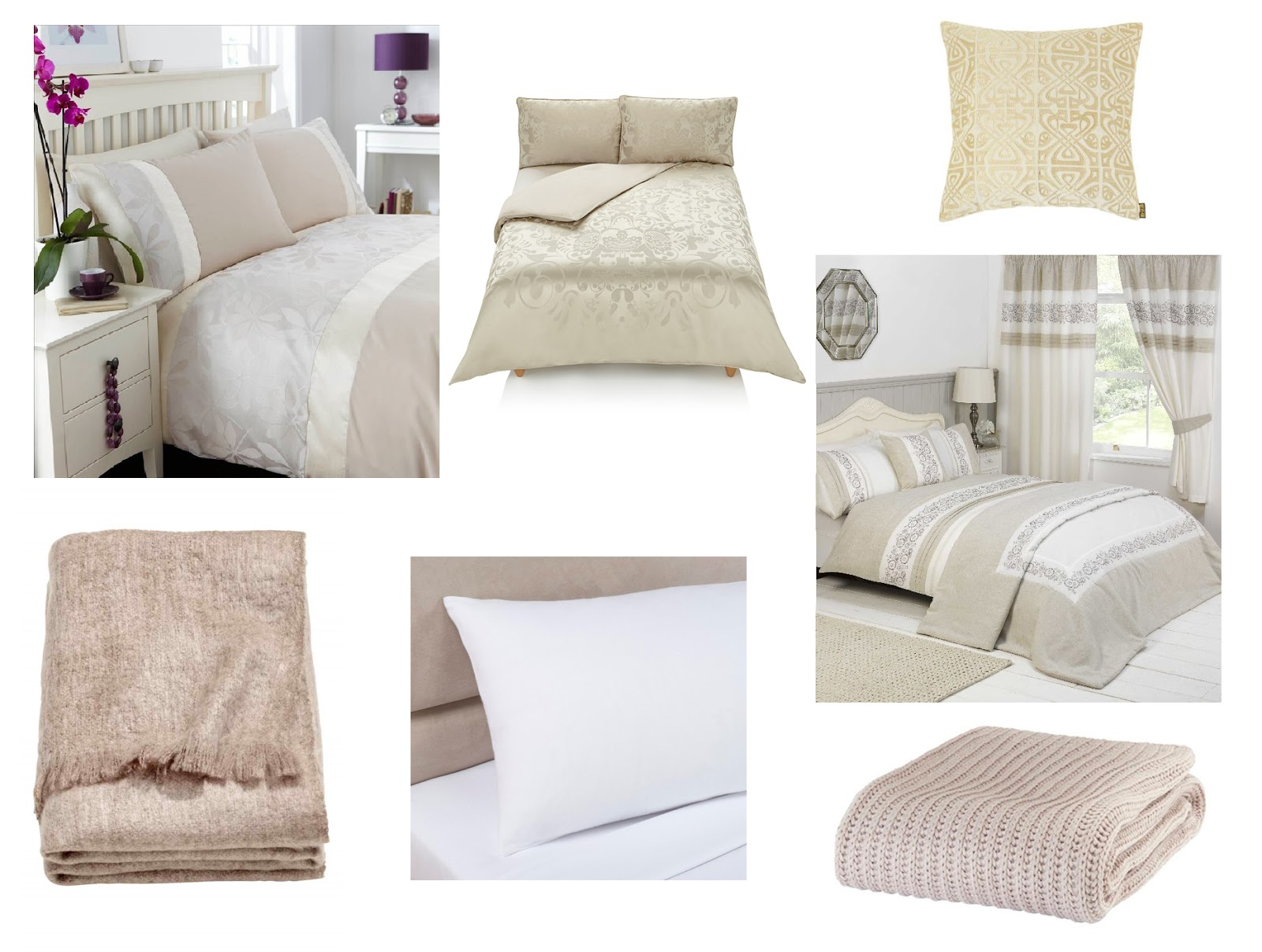 Bedding For Changing Your Bedroom Atomsphere: Neutral Moodboard | Katie Kirk Loves