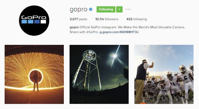 Follow @gopro on Instagram