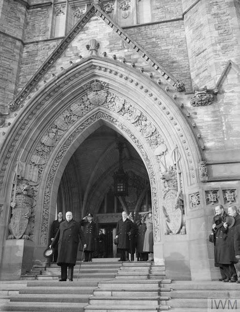 Winston Churchill in Ottawa, 29 December 1941 worldwartwo.filminspector.com