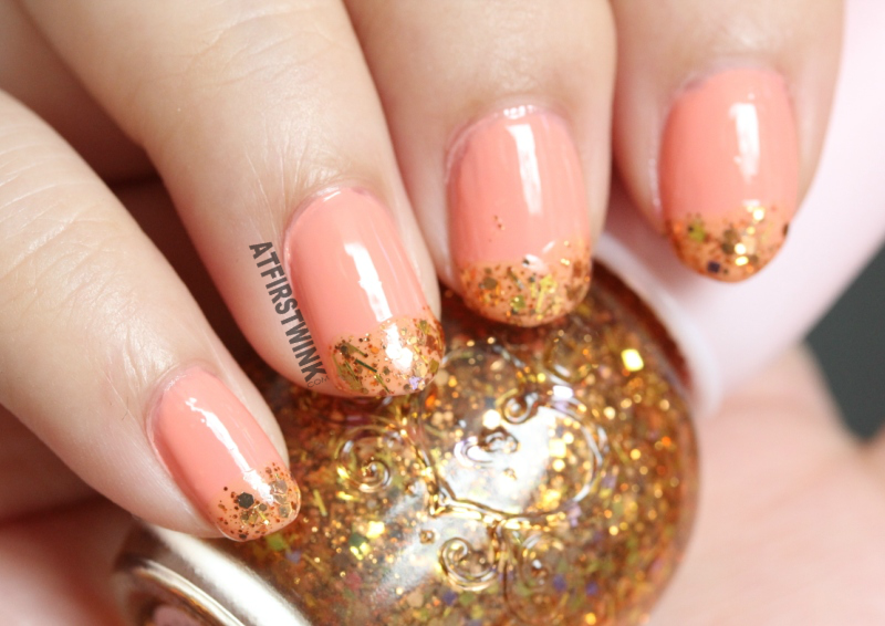 kingsday 2016 nails Etude House gold glitter nail polish