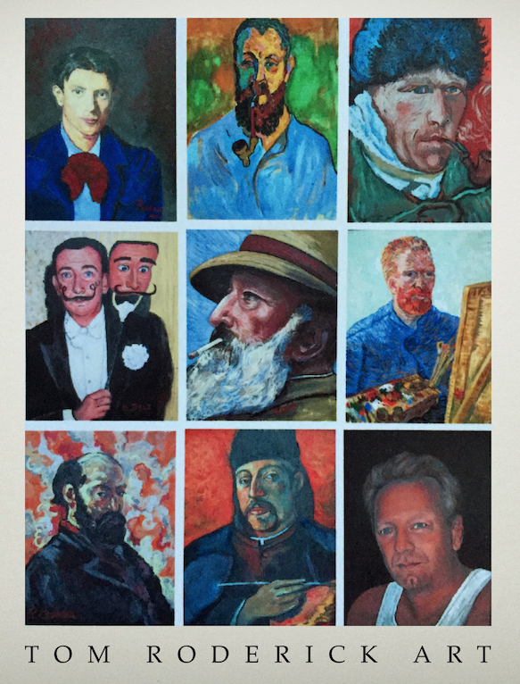 Self Portraits by Boulder portrait artist Tom Roderick