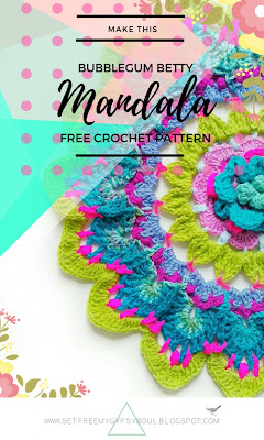 flower mandala crochet pattern bright bohemian 3d home doily
