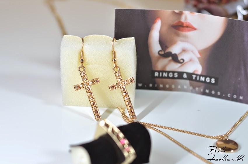 Rings & Tings Kreuz-Ohrringe