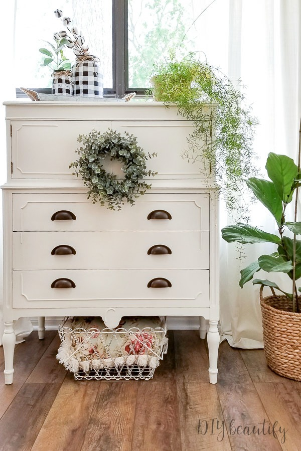 cottage dresser on farmhouse floors