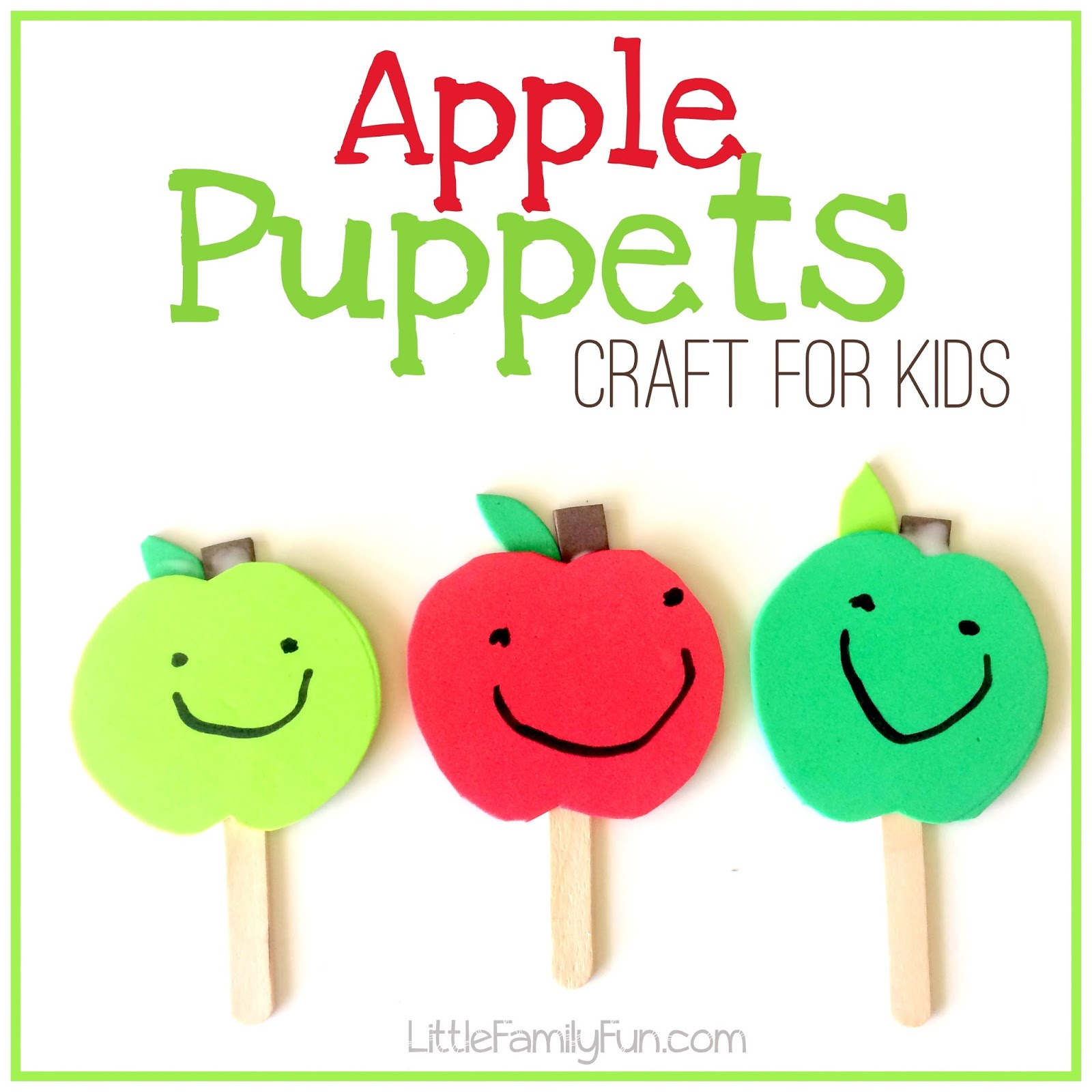 Craft Ideas For Apples For Toddlers