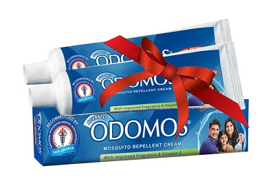 Get FREE Odomos Mosquito Repellent sample