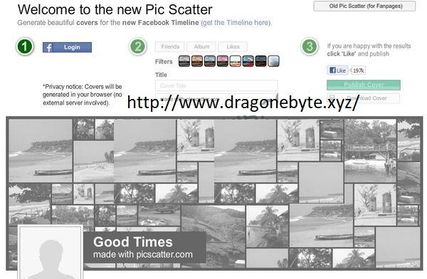 Membuat Cover Timeline dengan Pic Scatter