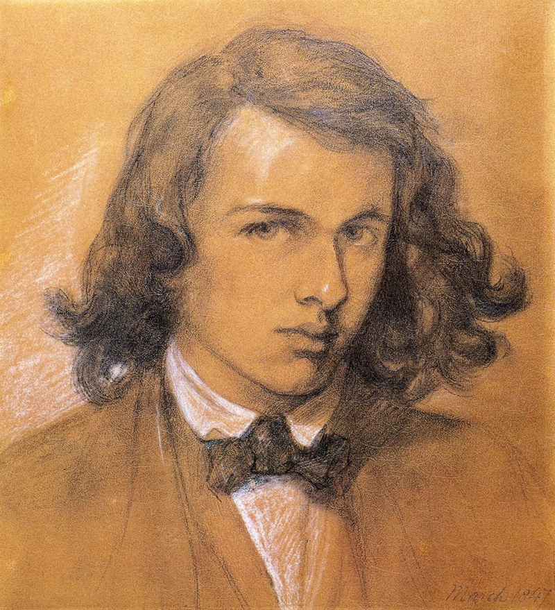 Dante Gabriel Rossetti 1828-1882 | British Pre-Raphaelite painter | Self Portrait