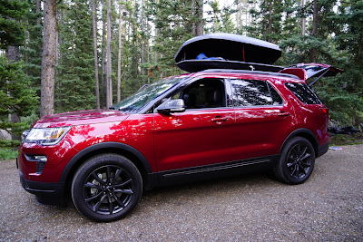 2018 Ford Explorer at Lake Louise Campground, Banff National Park