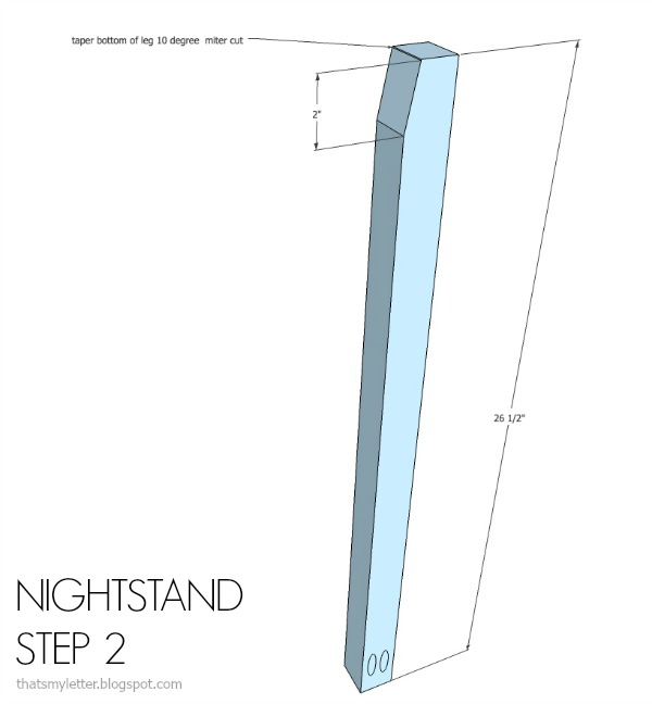 diy nightstand free plans