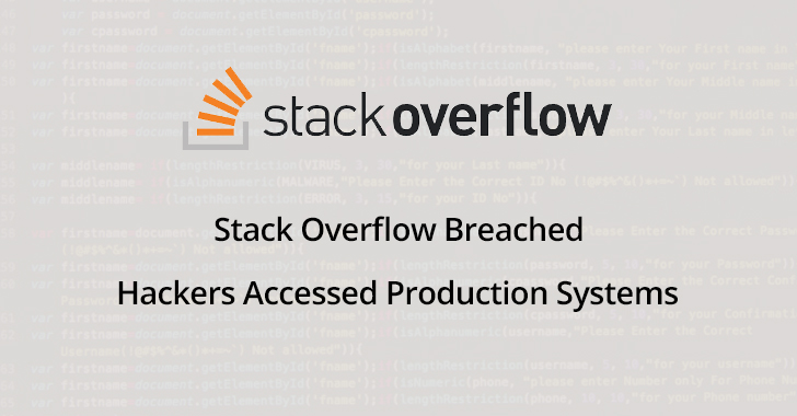 Stack Overflow  - Stack 2BOverflow 2BBreached - Stack Overflow Breached – Hackers Accessed Production Systems
