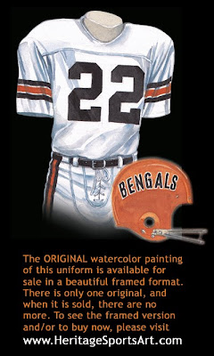 Cincinnati Bengals 1973 uniform